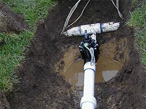Cape Cod Landscaper irrigation installation